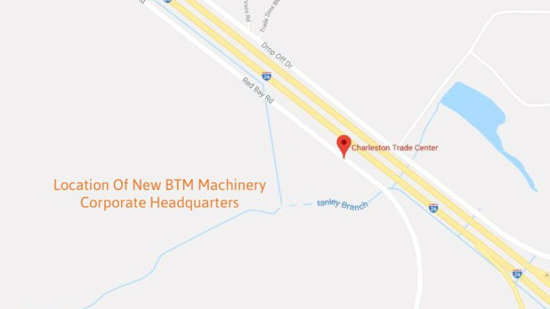 BTM Machinery Announces the Construction of New Corporate Headquarters In The Heart Of Charleston's New Distribution Center –  Summerville, SC